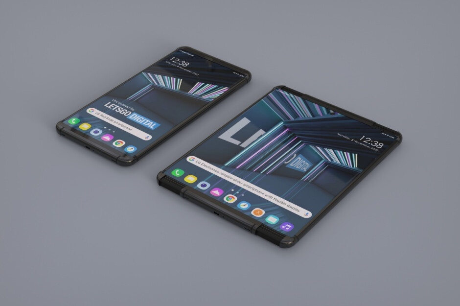 LG Rollable concept renders - The exciting LG Rollable and Rainbow could put the brand back on the map in H1 2021