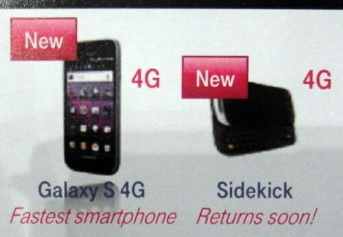 T-Mobile USA's new CEO confirmed that the Samsung Galaxy S 4G and the Sidekick 4G are both coming soon - T-Mobile's new CEO says Sidekick 4G and Galaxy S 4G are both on the way
