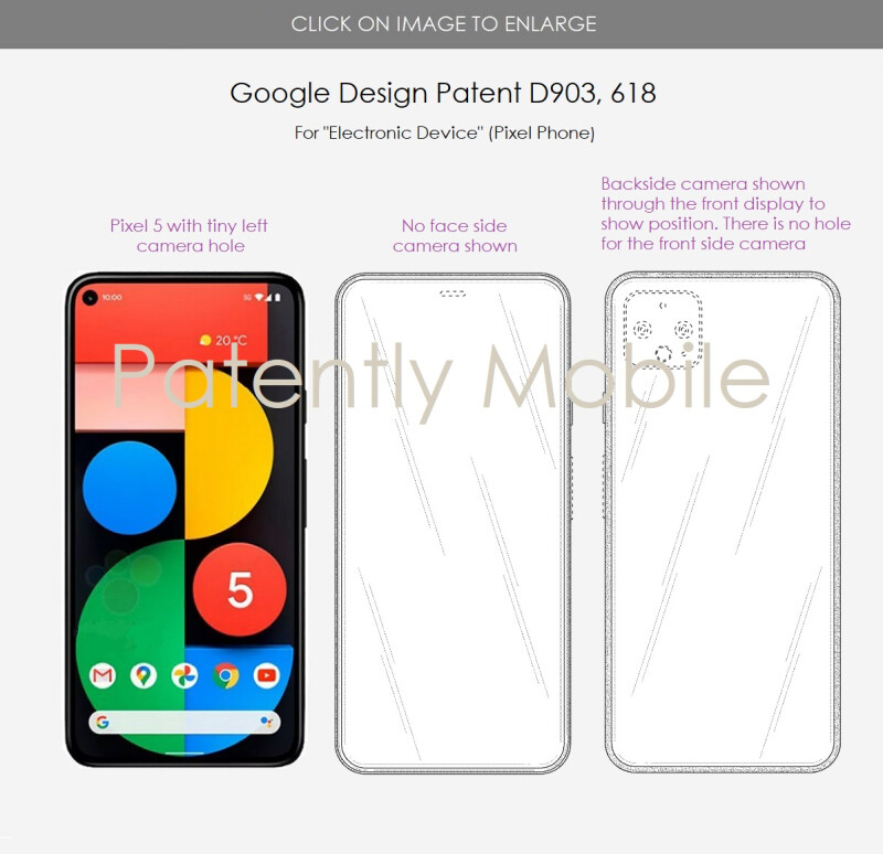 Google might be working on a Pixel phone with an under-display camera