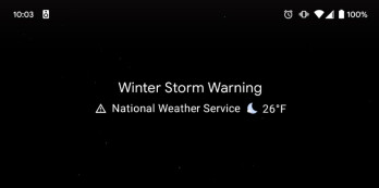 The Pixel's At a Glance widget displays a severe weather alert - It's the perfect time to make sure that this feature on your Pixel's iconic widget is toggled on