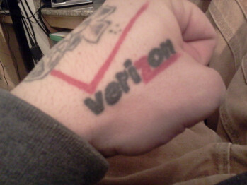 Verizon tattoo takes fanboyism to the next level
