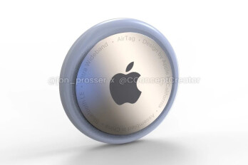 Render of the Apple AirTags that are expected to be released this year - Kuo says to expect Apple to launch these devices in 2021