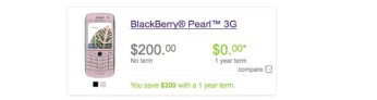 TELUS is now impressively selling the BlackBerry Pearl 3G for $200 no-contract