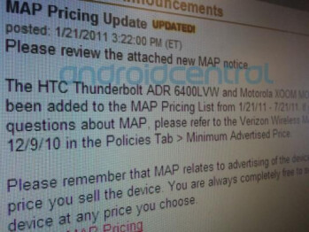 Pricing info leaked for the HTC Thunderbolt and the Motorola XOOM