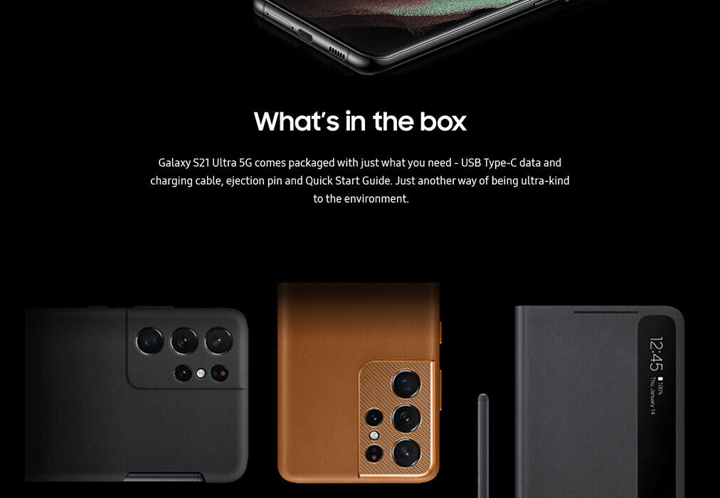 The S21 models would indeed come with no charger ot earbuds - All Galaxy S21, S21+, S21 Ultra specs revealed in a last-minute leak