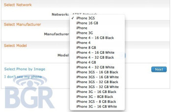 AT&T's online system is the latest to show white iPhone 4 model