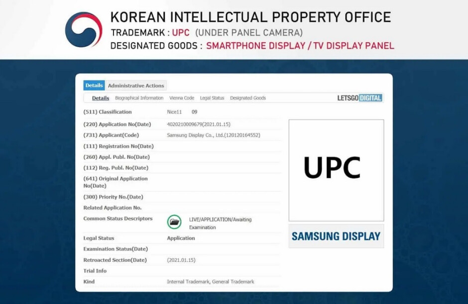 Samsung files the UPC trademark with the KIPO - Samsung files to trademark name for its cool new Galaxy Note 21 feature