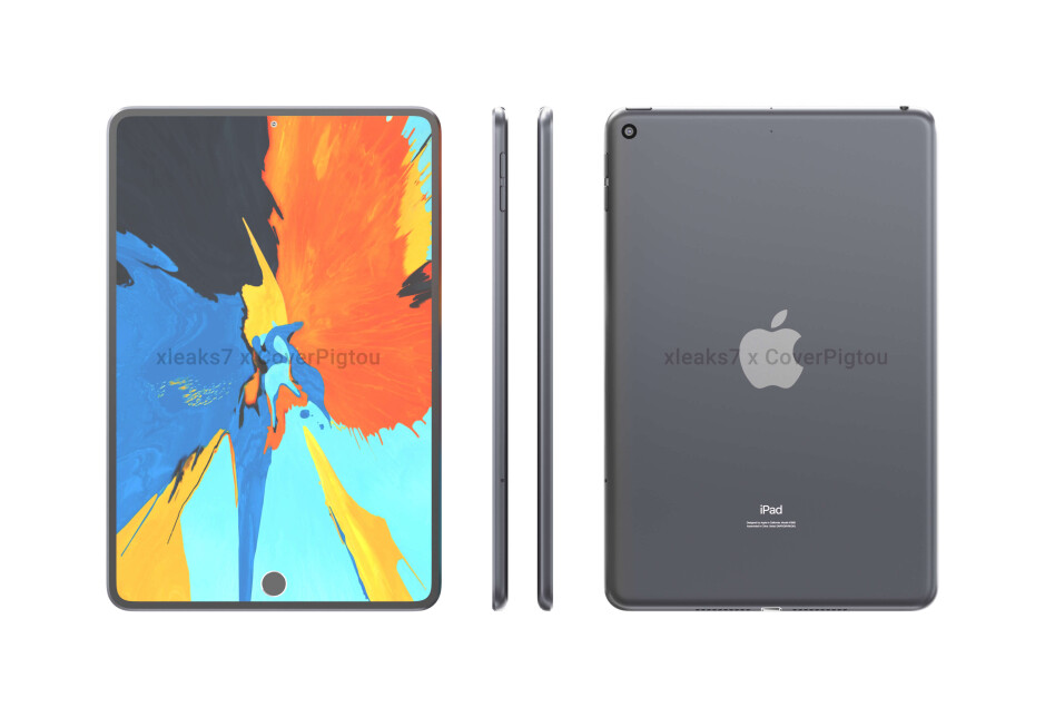 Alleged CAD-based renders of the iPad mini 6 - Sketchy iPad mini 6 leak points towards in-screen Touch ID, punch-hole camera