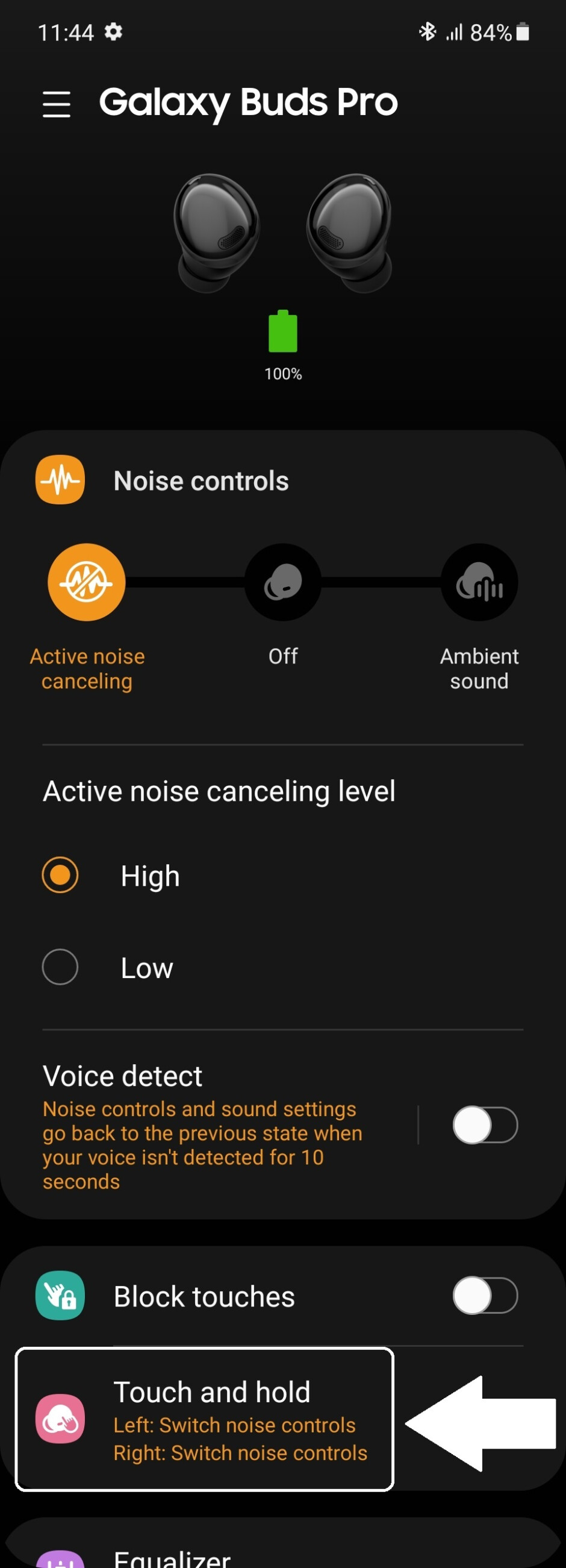 Once you're in the Galaxy Wearable app, all it takes is two taps, which we've shown here - How to control the volume on Galaxy Buds Pro with touch gestures