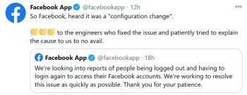 Ο λογαριασμός Facebook App Twitter αποκρίνεται σε ένα σφάλμα που υπέγραψε χρήστες iPhone από την εφαρμογή - το Facebook έδιωξε τους χρήστες Apple iPhone από τους λογαριασμούς τους την Παρασκευή