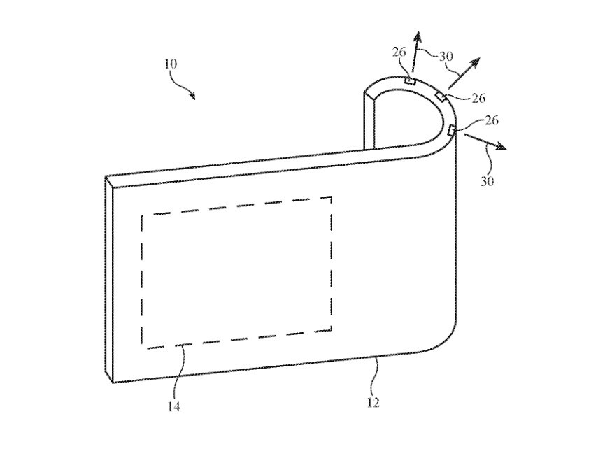 Illustration from Apple's patent application for a bendable camera system - Camera system for a foldable iPhone surfaces in Apple's filing for a patent