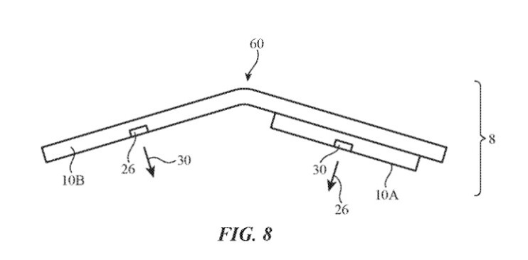 Another illustration from the patent - Camera system for a foldable iPhone surfaces in Apple's filing for a patent