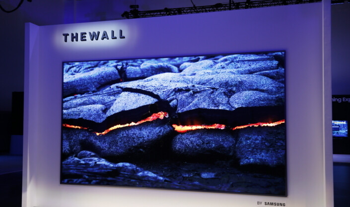 "Samsung's ""The wall"" TV (Source Samsung)&nbsp - What is Mini-LED and how it compares against OLED?"