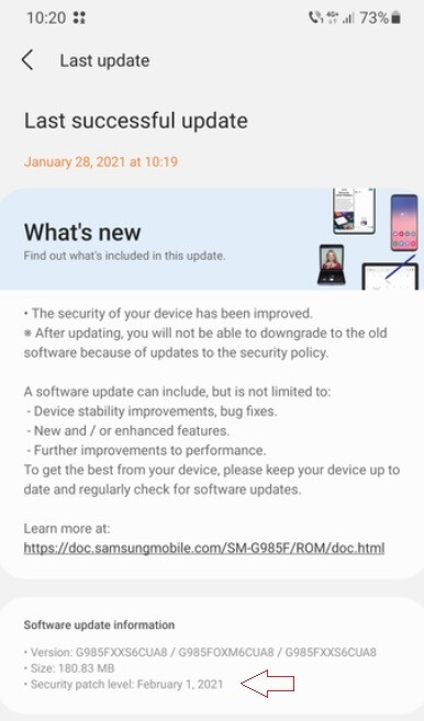 Samsung releases the February 2021 security patch for the Galaxy S20 series in January - 5G Samsung Galaxy S20 series gets an Android update early, even before the Pixels