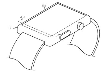 Illustration from Apple's new patent application for the Apple Watch - Apple has a clever plan for shrinking the size of the Apple Watch while hiking the capacity of the battery