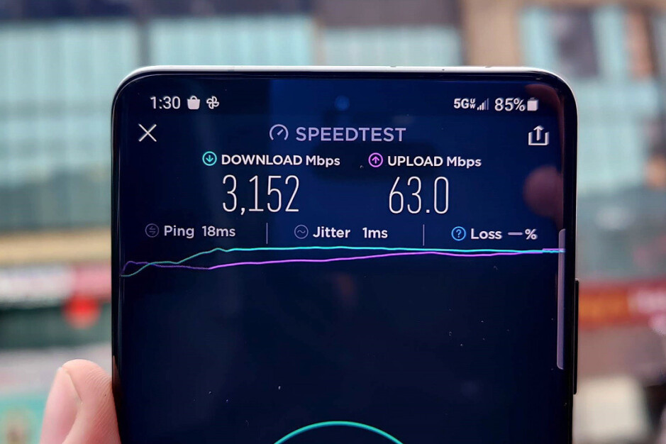Record 5G speeds with Verizon's Galaxy S21 Ultra - Galaxy S21 Ultra is the best phone to use outdoors, and not for its insane 5G speeds