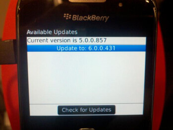 The BlackBerry Curve 3G 9330 is also receiving an  OTA upgrade from Verizon to the latest OS