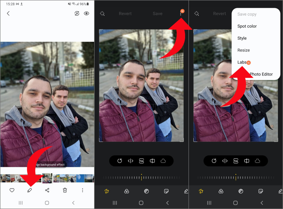 How to remove objects and people from photos with Galaxy S21?