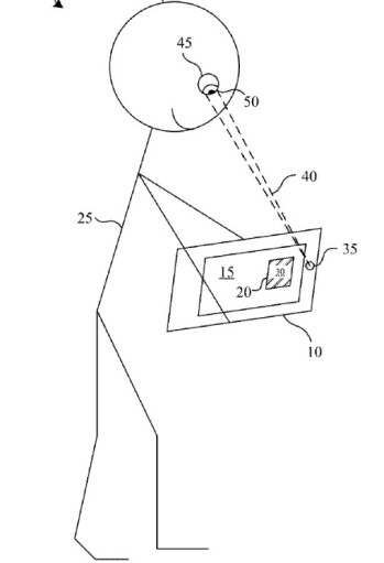 Illustration from Apple's patent application - Apple Glass users' eyes can determine how engaged they are to the content they're viewing