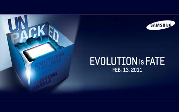 Invitation for Samsung unpacked event. - MWC 2011 PR plans show both the Samsung Galaxy S 2 & Tab 2 are on schedule