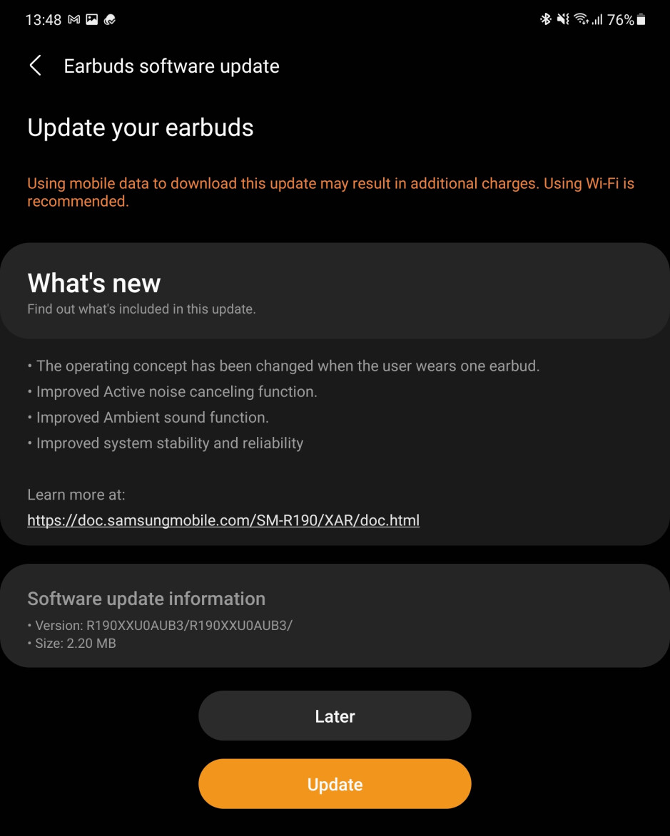 An update that improves Galaxy Buds Pro ANC is now rolling out