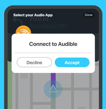 Waze adds Audible integration on Android and iOS devices