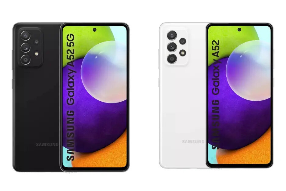 Both models are expected to come in Awesome Black or Awesome White - Samsung Galaxy A52 5G and Galaxy A72 5G colors: what to expect