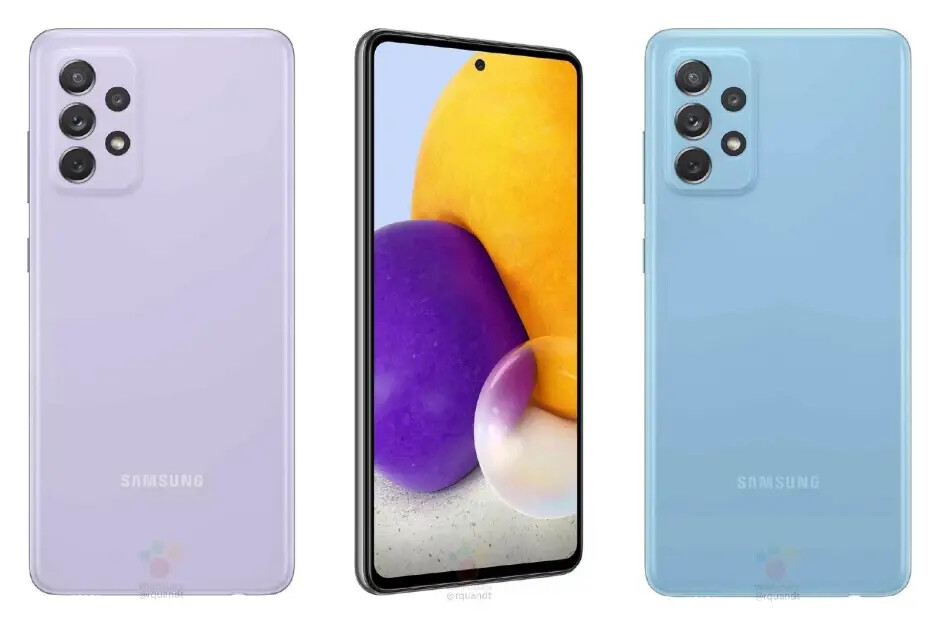 Both models are expected to come in Awesome Violet or Awesome Blue as well - Samsung Galaxy A52 5G and Galaxy A72 5G colors: what to expect
