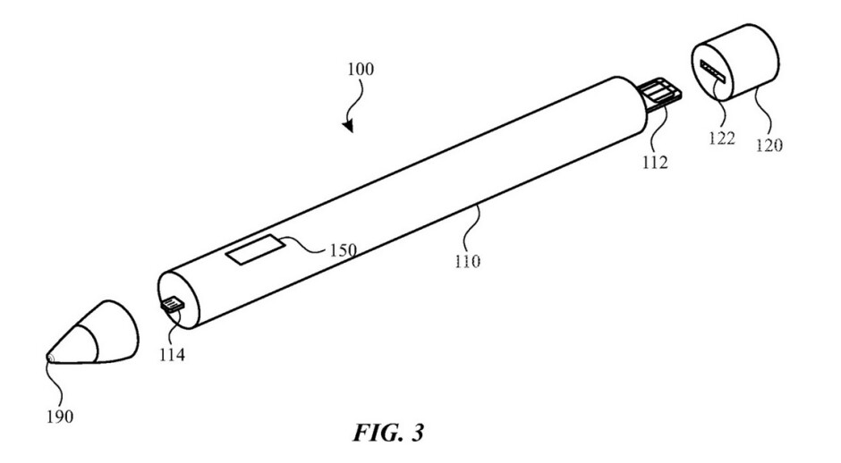 Illustration from Apple's latest patent - Apple receives a patent for a major new Apple Pencil feature