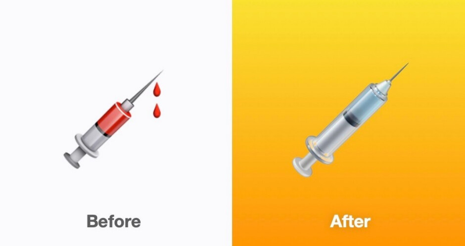 The iOS 14.5 developer beta 2 update removes the blood from the syringe emoji - Check out some of the changes made with the latest iOS, iPadOS and watchOS updates