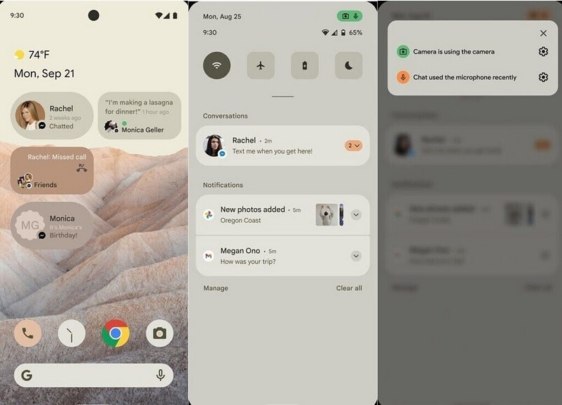 Mockup of Android 12 shows new privacy feature - Android 12 Developer Preview 1 arrives