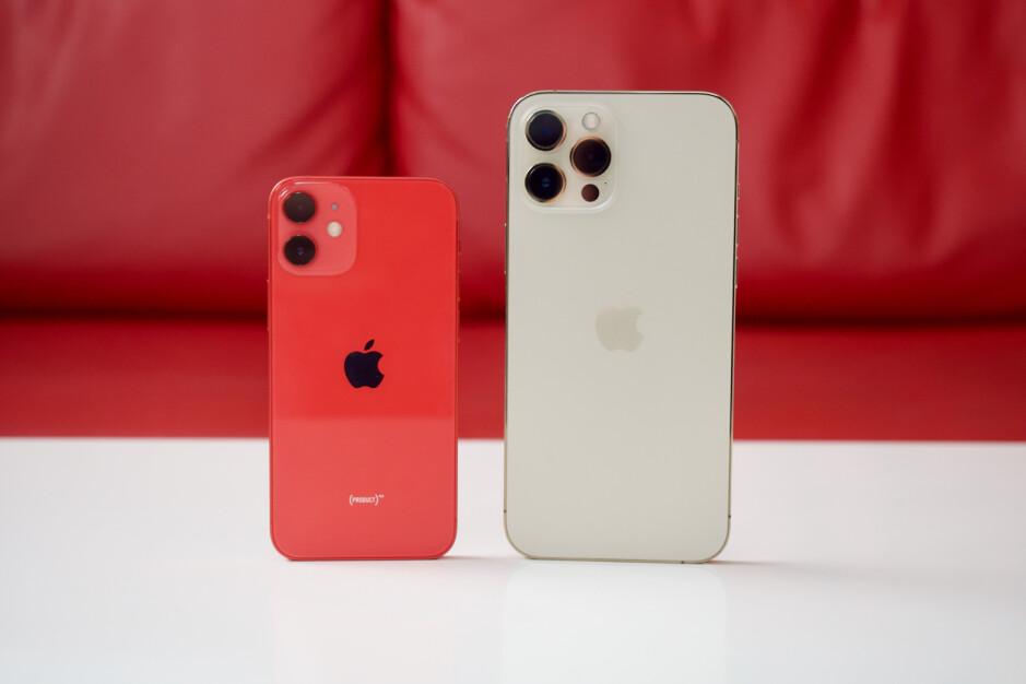 iPhone 12 Mini left, iPhone 12 Pro Max right - Should Apple just kill the iPhone 12 Mini?