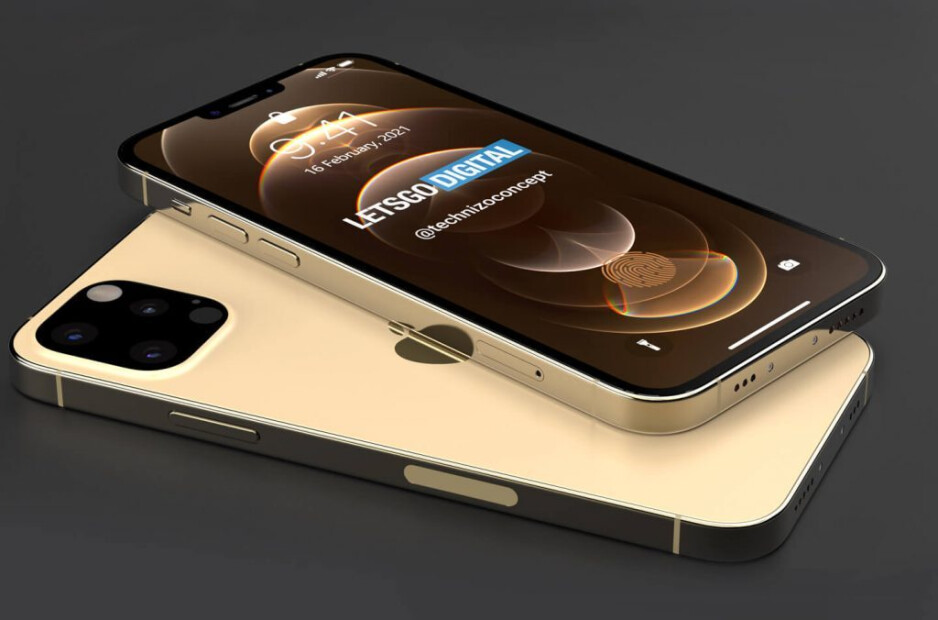 Apple iPhone 13 Pro rendering with 6.1-inch screen-5G iPhone 13 Pro rendering shows what many iPhone users pray for