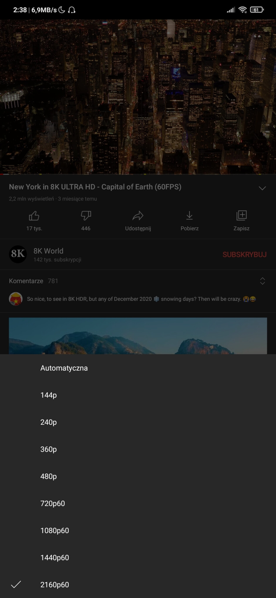 The YouTube app can now play 4K HDR videos on Android devices