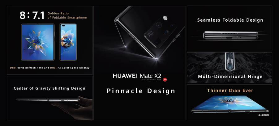 Huawei Mate X2 features - Huawei Mate X2 starts the 2021 5G foldable phone crop with 10x periscope zoom