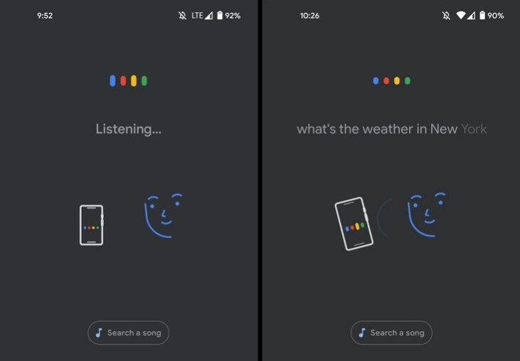 New Voice Search UI adds animation showing how you can talk to your Android phone - Cool new wallpaper theming for Android 12 surfaces on tweeted photos