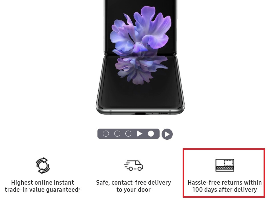 Samsung promotes its new Buy and Try program which allows one of its two foldables to be returned for a complete refund after 100 days - Samsung Galaxy Z Fold 2, Galaxy Z Flip 5G can be returned within 100 days for a full refund