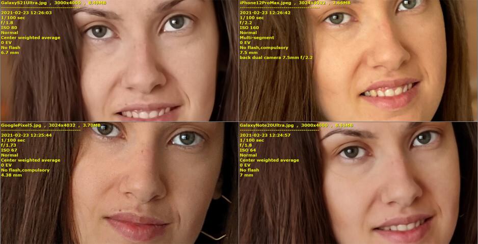Galaxy S21 Ultra vs iPhone 12 Pro Max, Pixel 5, Note 20 Ultra: Portrait camera comparison