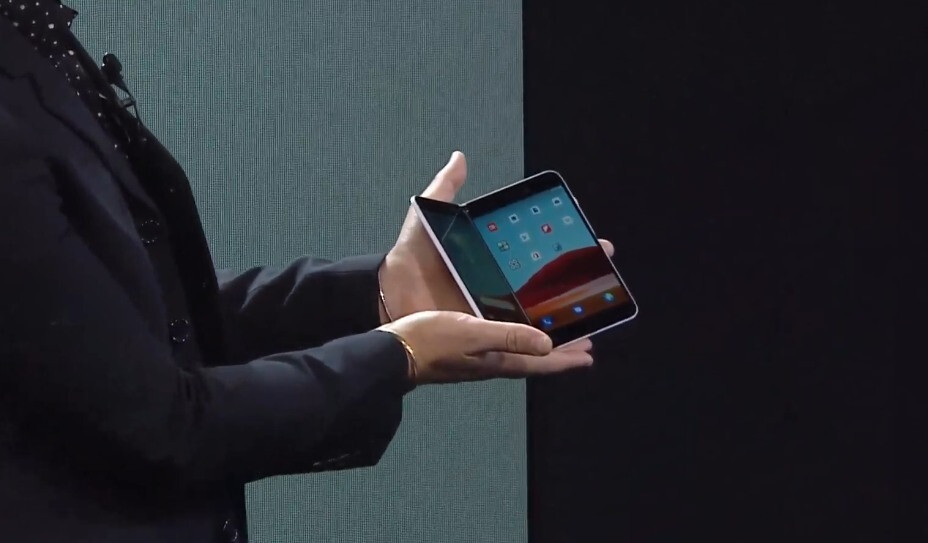 A sequel to the pictured Surface Duo will apparently support 5G - Microsoft hints at Surface Duo 2 with support for 5G