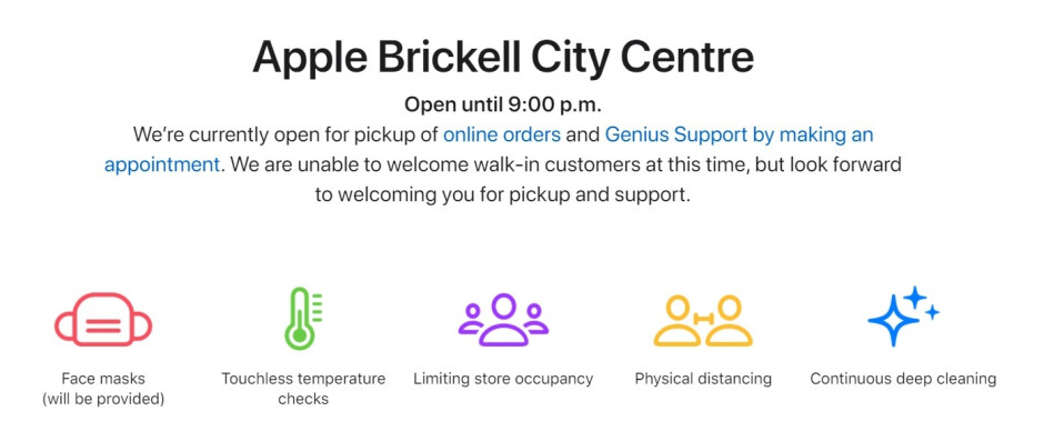 While all 270 Apple Stores are open, many have severe limitations on what customers can do - All 270 U.S. Apple Stores are now open