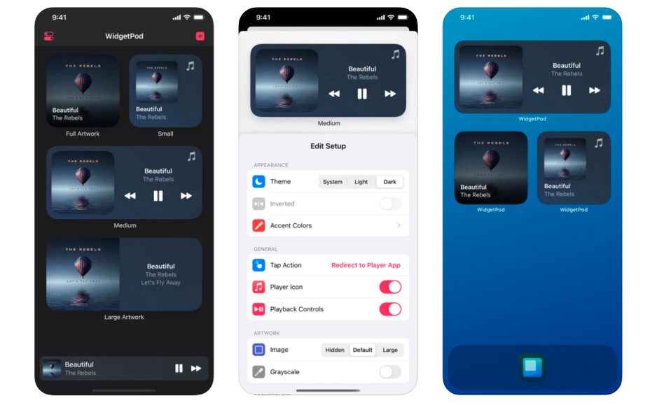 WidgetPod iPhone app introduces Now Playing widget for Spotify and Apple Music