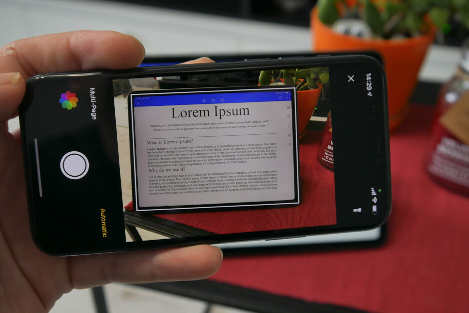 Scan a document or screen