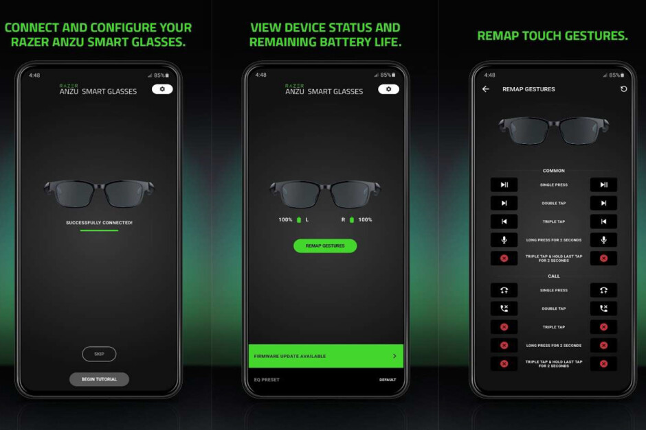 The Razer Anzu is a pair of glasses with built-in open-ear headphones