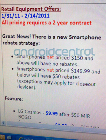 Verizon is getting rid of mail-in-rebates for higher-end smartphones?