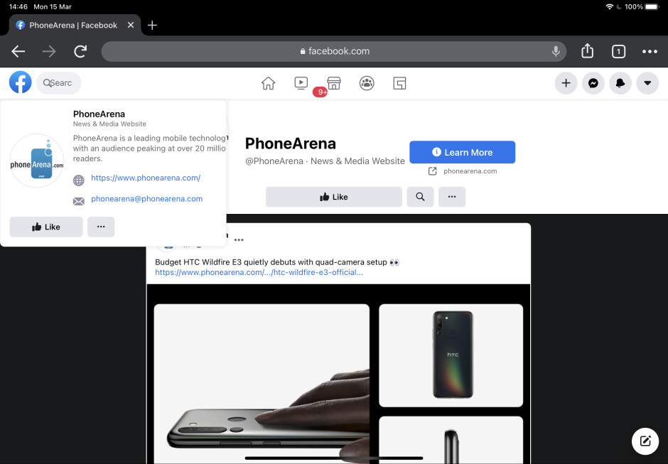 If you're a Chrome user, you'll see broken desktop websites often, like Facebook here - 4 reasons why iPad still fails to be my main computer