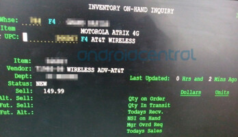 This leaked Costco screenshot confirms Amazon's $149.99 price for the Motorola ATRIX 4G