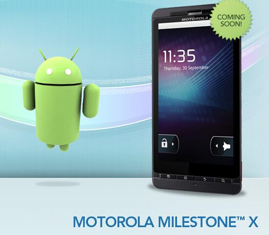 Coming soon to Bluegrass Cellular, the Motorola Milestone X - Motorola Milestone X is the DROID X for Bluegrass Cellular