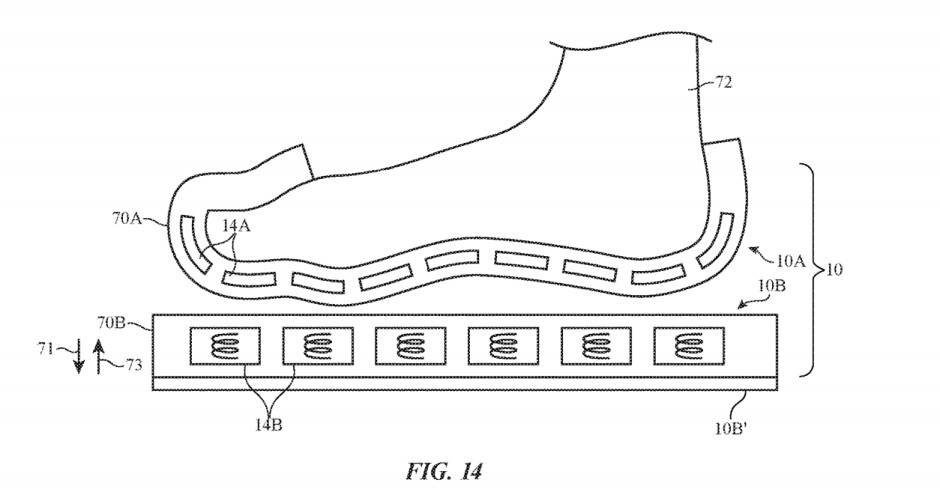"""The hybrid concept where both sock and platform have fittings - """"Apple Socks"""" with touch simulation patented for future AR/VR devices"""