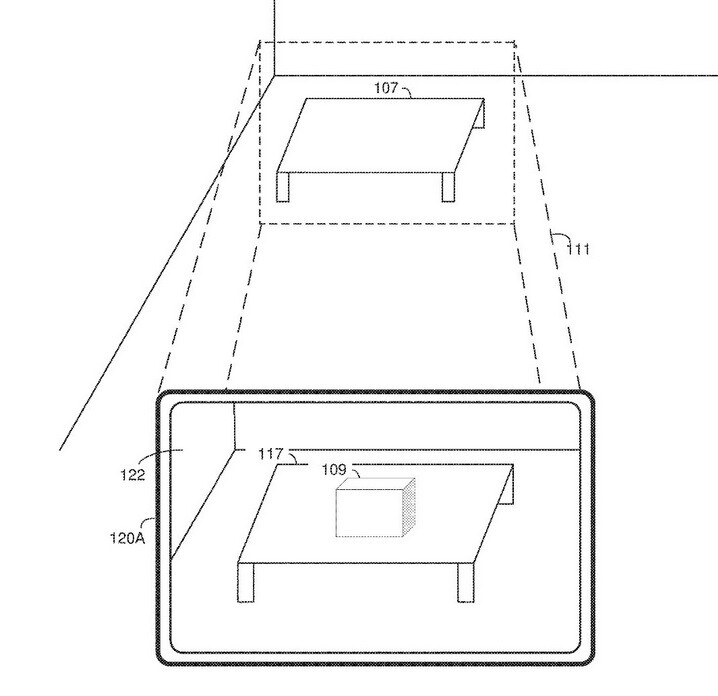 A real object like the table, intrudes with a virtual object like the box which could be dangerous to the device user - Kuo reveals how Apple might keep real life from intruding on VR