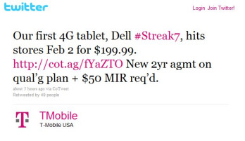 Dell Streak 7 is impressively launching February 2 for $199 on-contract